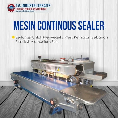 Mesin Continuous Sealer Pengemas Makanan