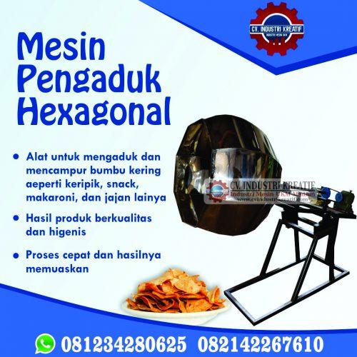 pengaduk hexagonal